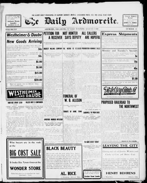 Primary view of object titled 'The Daily Ardmoreite. (Ardmore, Okla.), Vol. 15, No. 62, Ed. 1, Sunday, August 9, 1908'.