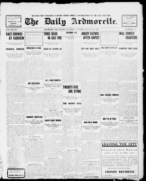 Primary view of object titled 'The Daily Ardmoreite. (Ardmore, Okla.), Vol. 15, No. 64, Ed. 1, Tuesday, August 11, 1908'.