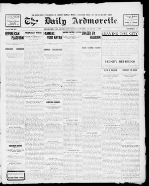Primary view of object titled 'The Daily Ardmoreite. (Ardmore, Okla.), Vol. 15, No. 66, Ed. 1, Thursday, August 13, 1908'.