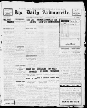 Primary view of object titled 'The Daily Ardmoreite. (Ardmore, Okla.), Vol. 15, No. 67, Ed. 1, Friday, August 14, 1908'.
