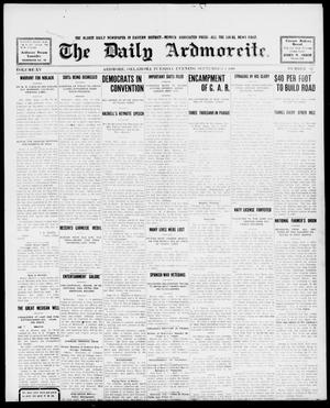 Primary view of object titled 'The Daily Ardmoreite. (Ardmore, Okla.), Vol. 15, No. 82, Ed. 1, Tuesday, September 1, 1908'.