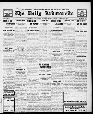 Primary view of object titled 'The Daily Ardmoreite. (Ardmore, Okla.), Vol. 15, No. 100, Ed. 1, Wednesday, September 23, 1908'.