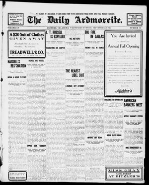Primary view of object titled 'The Daily Ardmoreite. (Ardmore, Okla.), Vol. 15, No. 106, Ed. 1, Wednesday, September 30, 1908'.