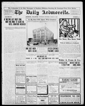 Primary view of object titled 'The Daily Ardmoreite. (Ardmore, Okla.), Vol. 16, No. 228, Ed. 1, Tuesday, March 1, 1910'.