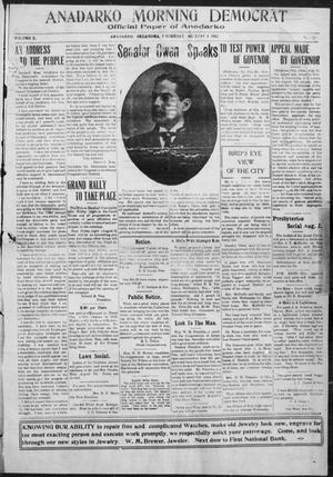 Primary view of object titled 'Anadarko Morning Democrat (Anadarko, Okla.), Vol. 10, No. 316, Ed. 1, Thursday, August 1, 1912'.