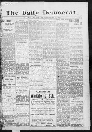 Primary view of object titled 'The Daily Democrat. (Anadarko, Okla.), Vol. 1, No. 1, Ed. 1, Monday, January 21, 1907'.