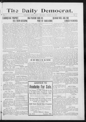 Primary view of object titled 'The Daily Democrat. (Anadarko, Okla.), Vol. 1, No. 4, Ed. 1, Thursday, January 24, 1907'.
