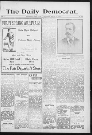 Primary view of object titled 'The Daily Democrat. (Anadarko, Okla.), Vol. 1, No. 43, Ed. 1, Monday, March 11, 1907'.