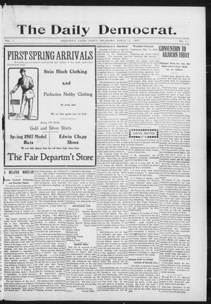Primary view of object titled 'The Daily Democrat. (Anadarko, Okla.), Vol. 1, No. 47, Ed. 1, Friday, March 15, 1907'.