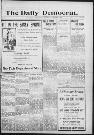Primary view of object titled 'The Daily Democrat. (Anadarko, Okla.), Vol. 1, No. 56, Ed. 1, Tuesday, March 26, 1907'.