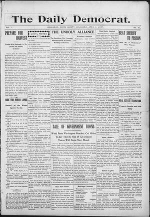 Primary view of object titled 'The Daily Democrat. (Anadarko, Okla.), Vol. 1, No. 61, Ed. 1, Monday, April 1, 1907'.