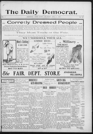 Primary view of object titled 'The Daily Democrat. (Anadarko, Okla.), Vol. 1, No. 65, Ed. 1, Thursday, April 4, 1907'.