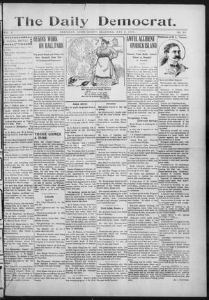 Primary view of object titled 'The Daily Democrat. (Anadarko, Okla.), Vol. 1, No. 89, Ed. 1, Thursday, May 2, 1907'.