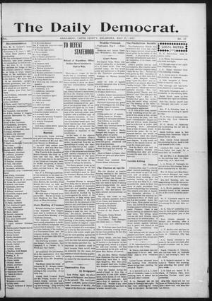 Primary view of object titled 'The Daily Democrat. (Anadarko, Okla.), Vol. 1, No. 93, Ed. 1, Thursday, May 9, 1907'.