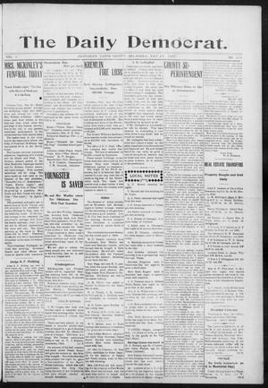 Primary view of object titled 'The Daily Democrat. (Anadarko, Okla.), Vol. 1, No. 111, Ed. 1, Wednesday, May 29, 1907'.