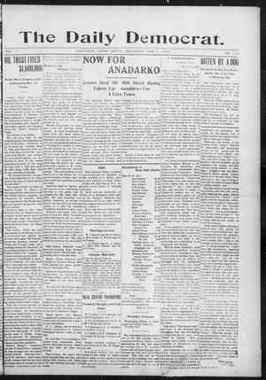 Primary view of object titled 'The Daily Democrat. (Anadarko, Okla.), Vol. 1, No. 114, Ed. 1, Monday, June 3, 1907'.