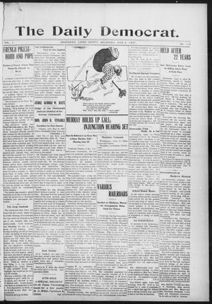 Primary view of object titled 'The Daily Democrat. (Anadarko, Okla.), Vol. 1, No. 116, Ed. 1, Wednesday, June 5, 1907'.