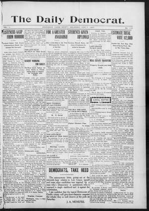 Primary view of object titled 'The Daily Democrat. (Anadarko, Okla.), Vol. 1, No. 118, Ed. 1, Friday, June 7, 1907'.