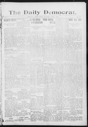 Primary view of object titled 'The Daily Democrat. (Anadarko, Okla.), Vol. 1, No. 119, Ed. 1, Saturday, June 8, 1907'.