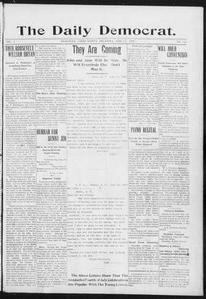 Primary view of object titled 'The Daily Democrat. (Anadarko, Okla.), Vol. 1, No. 123, Ed. 1, Thursday, June 13, 1907'.