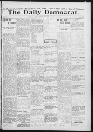 Primary view of object titled 'The Daily Democrat. (Anadarko, Okla.), Vol. 1, No. 132, Ed. 1, Monday, June 24, 1907'.