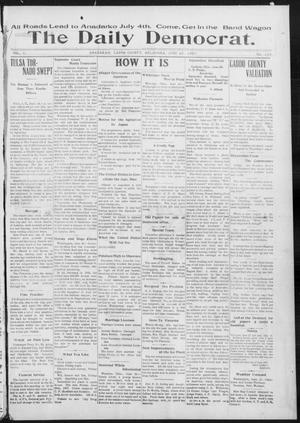 Primary view of object titled 'The Daily Democrat. (Anadarko, Okla.), Vol. 1, No. 133, Ed. 1, Tuesday, June 25, 1907'.