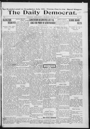 Primary view of object titled 'The Daily Democrat. (Anadarko, Okla.), Vol. 1, No. 134, Ed. 1, Wednesday, June 26, 1907'.