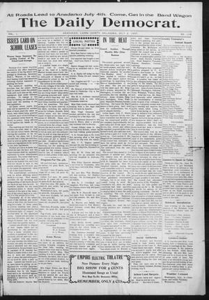 Primary view of object titled 'The Daily Democrat. (Anadarko, Okla.), Vol. 1, No. 139, Ed. 1, Tuesday, July 2, 1907'.