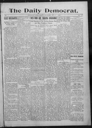 Primary view of object titled 'The Daily Democrat. (Anadarko, Okla.), Vol. 1, No. 143, Ed. 1, Sunday, July 7, 1907'.