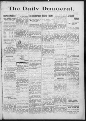 Primary view of object titled 'The Daily Democrat. (Anadarko, Okla.), Vol. 1, No. 146, Ed. 1, Thursday, July 11, 1907'.