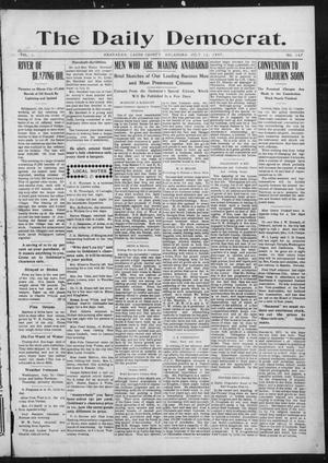 Primary view of object titled 'The Daily Democrat. (Anadarko, Okla.), Vol. 1, No. 147, Ed. 1, Friday, July 12, 1907'.