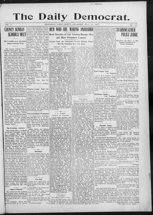 Primary view of object titled 'The Daily Democrat. (Anadarko, Okla.), Vol. 1, No. 153, Ed. 1, Friday, July 19, 1907'.