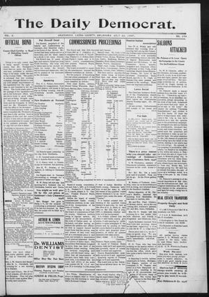Primary view of object titled 'The Daily Democrat. (Anadarko, Okla.), Vol. 1, No. 154, Ed. 1, Monday, July 22, 1907'.