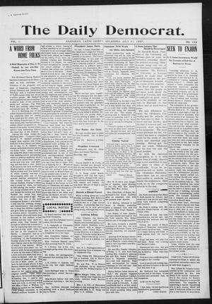 Primary view of object titled 'The Daily Democrat. (Anadarko, Okla.), Vol. 1, No. 162, Ed. 1, Wednesday, July 31, 1907'.
