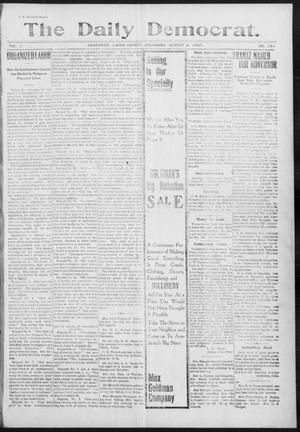 Primary view of object titled 'The Daily Democrat. (Anadarko, Okla.), Vol. 1, No. 164, Ed. 1, Friday, August 2, 1907'.
