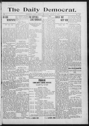 Primary view of object titled 'The Daily Democrat. (Anadarko, Okla.), Vol. 1, No. 166, Ed. 1, Sunday, August 4, 1907'.