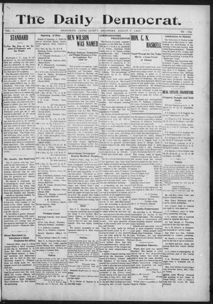 Primary view of object titled 'The Daily Democrat. (Anadarko, Okla.), Vol. 1, No. 168, Ed. 1, Wednesday, August 7, 1907'.