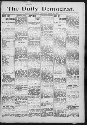 Primary view of object titled 'The Daily Democrat. (Anadarko, Okla.), Vol. 1, No. 179, Ed. 1, Tuesday, August 20, 1907'.
