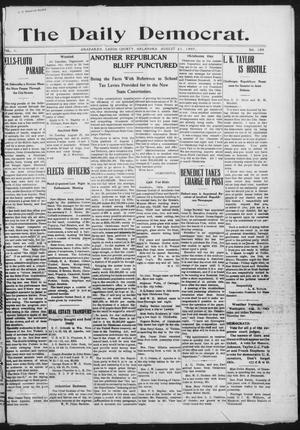 Primary view of object titled 'The Daily Democrat. (Anadarko, Okla.), Vol. 1, No. 180, Ed. 1, Wednesday, August 21, 1907'.