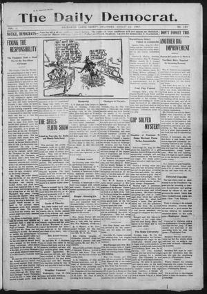 Primary view of object titled 'The Daily Democrat. (Anadarko, Okla.), Vol. 1, No. 181, Ed. 1, Thursday, August 22, 1907'.