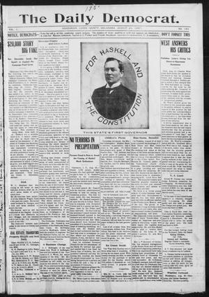 Primary view of object titled 'The Daily Democrat. (Anadarko, Okla.), Vol. 1, No. 183, Ed. 1, Saturday, August 24, 1907'.