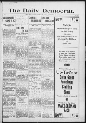 Primary view of object titled 'The Daily Democrat. (Anadarko, Okla.), Vol. 1, No. 211, Ed. 1, Thursday, September 26, 1907'.