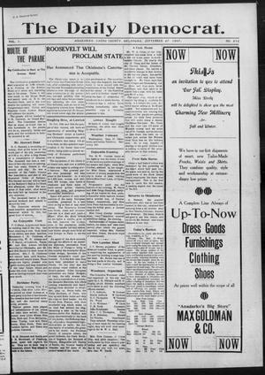 Primary view of object titled 'The Daily Democrat. (Anadarko, Okla.), Vol. 1, No. 212, Ed. 1, Friday, September 27, 1907'.