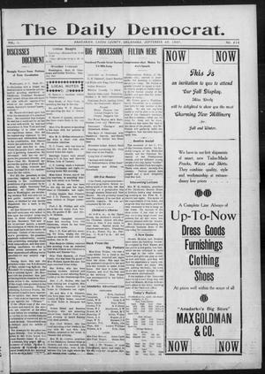 Primary view of object titled 'The Daily Democrat. (Anadarko, Okla.), Vol. 1, No. 213, Ed. 1, Saturday, September 28, 1907'.