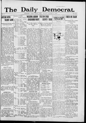 Primary view of object titled 'The Daily Democrat. (Anadarko, Okla.), Vol. 7, No. 219, Ed. 1, Monday, October 12, 1908'.
