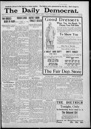 Primary view of object titled 'The Daily Democrat. (Anadarko, Okla.), Vol. 7, No. 243, Ed. 1, Friday, November 6, 1908'.