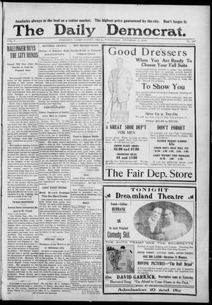 Primary view of object titled 'The Daily Democrat. (Anadarko, Okla.), Vol. 7, No. 247, Ed. 1, Wednesday, November 11, 1908'.