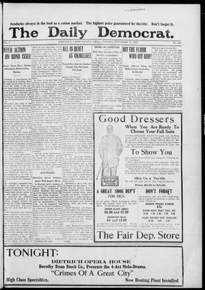 Primary view of object titled 'The Daily Democrat. (Anadarko, Okla.), Vol. 7, No. 252, Ed. 1, Tuesday, November 17, 1908'.
