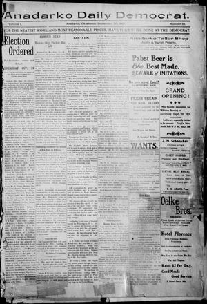 Primary view of object titled 'Anadarko Daily Democrat. (Anadarko, Okla.), Vol. 1, No. 18, Ed. 1, Monday, September 30, 1901'.