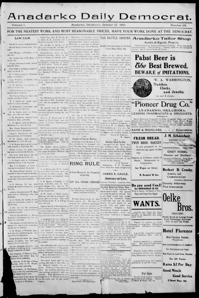 Anadarko ok newspaper